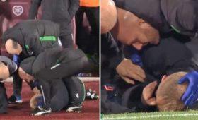 Фанаты напали нафутболиста итренера входе матча «Хартс» и«Хиберниан»