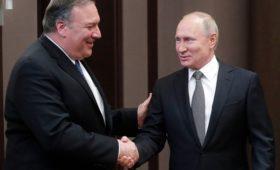 Путин начал встречу с Помпео словами о нормализации отношений с США