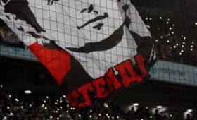 Фанаты «Спартака» снова вывесили баннер оДзюбе