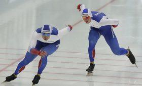 Российские конькобежцы заняли первое место вкомандном спринте наЧЕвНидерландах