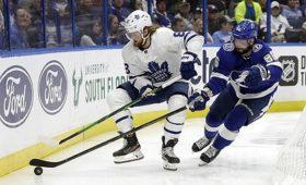 ГолКучерова неспас «Тампу» отпоражения вматче НХЛпротив «Торонто»