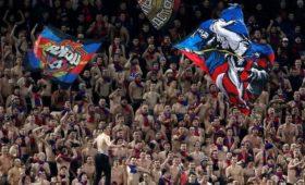 Фанаты ЦСКА поддержали задержанных болельщиков «Спартака»